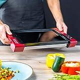 ECO-DE Digital Glass Grill piastra elettrica con pannello di controllo Digitale, fino a 220ºC, rivestimento antiaderente di alta qualitá, vassoio raccogli grasso