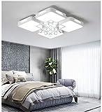 Ruluri Ruluri 30W Soggiorno semplice soffitto del LED Luce moderna lampada di cristallo, Stepless Dimming + telecomando, 40 x 40 cm