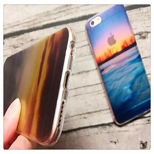 KSHOP 3D Imprimé Coque Housse pour iPhone 6 6S 4.7 pouces Etui Téléphone en Silicone Bumper + PC Back 2 in 1 Hybride Plastique Case Cover Transparent Couvrir Anti-scratch Antichoc Flexible Souple Back Paysage 15