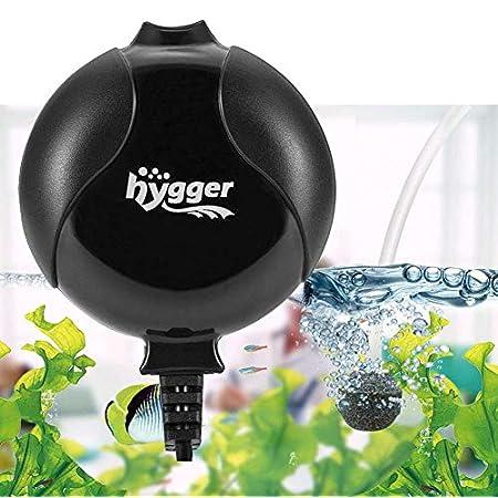 Hygger Sauerstoffpumpe für Aquarium, Superleise Aquarium Luftpumpe Geräusch niedriger als 33db 1.5W Leistungsstark Sauerstoffpumpe 420Ml/M Geeignet für Fischbecken und Die Nanoaquarien