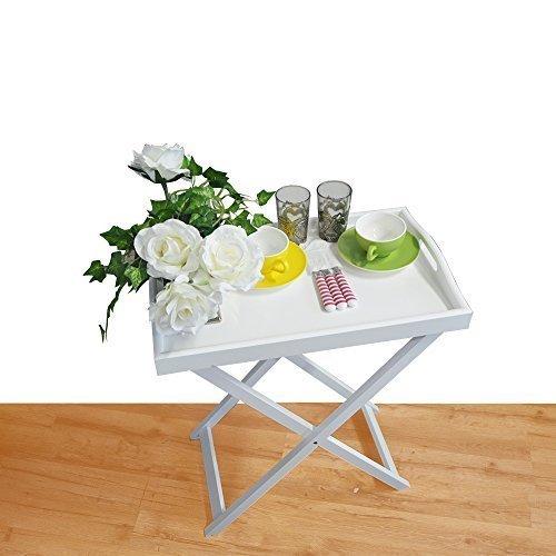 Tablett - Tisch Klapptisch Holz Serviertisch Butlers Tray Beistelltisch klappbar (Tray Butler)