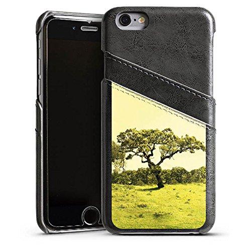 Apple iPhone 4 Housse Étui Silicone Coque Protection Arbre Paysage Prairie Étui en cuir gris