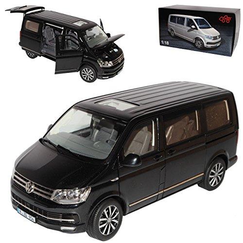 Preisvergleich Produktbild VW Volkswagen T6 Multivan Highline Personen Transporter Schwarz T5 Ab 2. Facelift 2015 1/18 NZG Modell Auto mit individiuellem Wunschkennzeichen