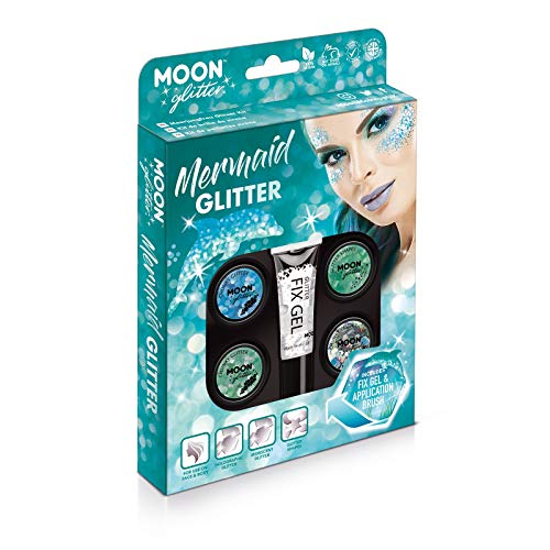 Kit Brillo Sirena Moon Glitter - 100% Brillo Cosmético