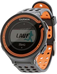 Garmin Forerunner 220 GPS-Laufuhr - schwarz/orange - inklusive Premium Herzfrequenz Brustgurt