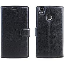 Doogee X5 Max Pro cáscara protectora, Wrcibo Doogee X5 Max Pro Funda Flip de PU Cuero Billetera Cartera Monedero Funda Caso Case para Doogee X5 Max Pro Smartphone (Negro)