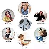 ENJOY JuYi Fidget Cube Relieves Stress And Anxiety for Children and Adults (Navy Blue)