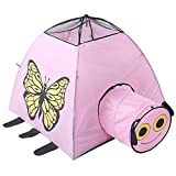 ZMH Kinderzelt Animal City Net Garn Tunnel Schmetterlingshaus Babyspielzeug Castle Ball Pool Prinzessin Moskitonetz