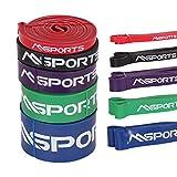 Msports Resistance Band in verschiedenen Stärken - Trainingsband | Gymnastikband | Widerstand-Bänder | Fitnessband