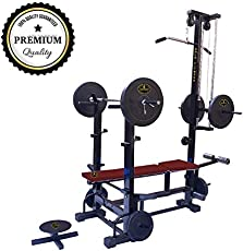 Gold Fitness 20 In 1 Bench With Twister And Double Supported Pipe Heavy Weight Bench For Gym Exercise