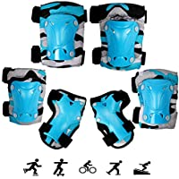 Knee Pads Elbow Pads Wrister Bracers Safety Helmet Durable Protection Gear for Ice Skate Skateboard Bicycle TENGER 7Pcs Toddlers Childrens Roller Skating Safeguard Sports Support Pads