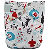 Fairy Baby Christmas Cloth Diaper Adjustable Baby Nappy With Insert Gift Set
