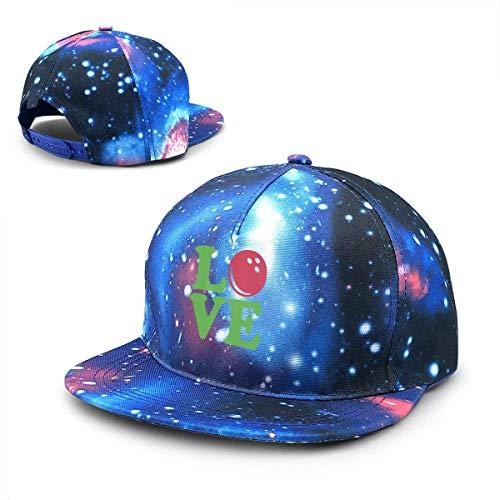 Rogerds Baseball Kappe für Herren/Damen,Sternenhimmel Mütze,Hüte Bowling Love Ball Baseball Cap, Adjustable Hip-hop Cap