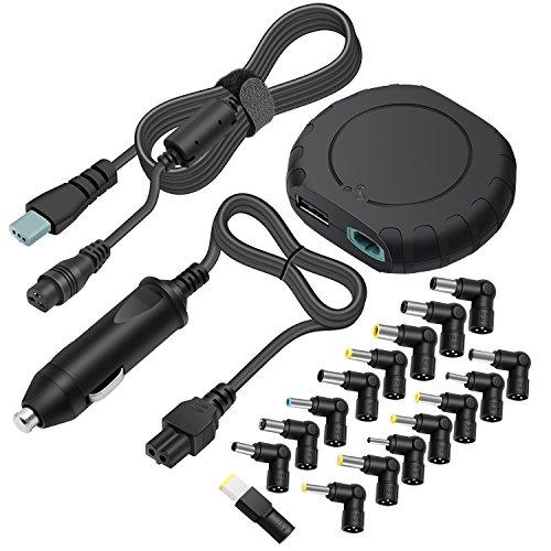 outtag Mini 90W KFZ-Ladegerät Stromversorgung Universal 15-20V DC Adapter Sektor für HP/Compaq Dell Acer SONY Fujitsu Toshiba NEC FUJITSU DELTA IBM Lg Medion Delta Asus Samsung -- mit 5V USB (Hp Sony)
