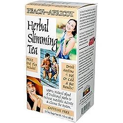 Slimming Tea Peach Apricot - 100% Caffeine-Free Herbal Tea, 24 bags,