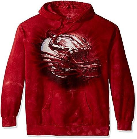 The Mountain Men's U of South Carolina Gamecock H Bt-Adult Hoodie Sweatshirt, Red, XX-Large