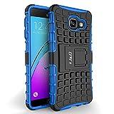 Coque Galaxy A3, J&D [Béquille] [Couche Double] Coque de Protection Antichoc Hybride pour Samsung Galaxy A3 - Bleu