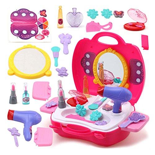 FYGOOD prinzessin Make-up-Zubehör Schönheit Spielzeug, Kosmetik-Set in einem Koffer Mädchen...