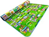 Westeng 1pc Double-sided Foam Waterproof Baby Crawling Play Mat/Pad Game + Alphabet Foldable Travel Portable Picnic Carpet Home Outdoor 120*180*0.5CM