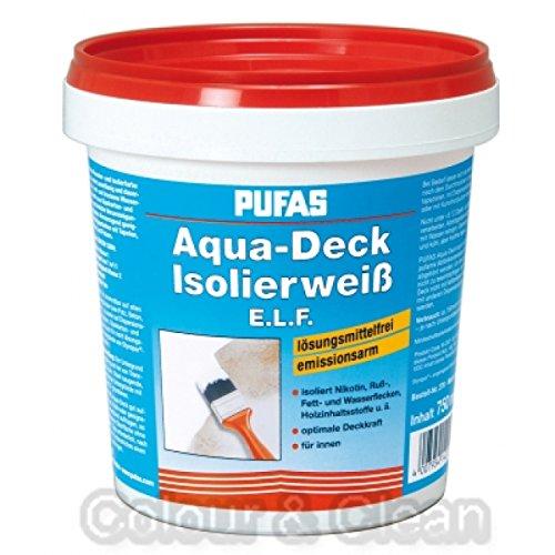 Pufas Aqua-Deck Isolierweiß E.L.F. 750 ml - Dose