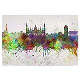 artboxONE Poster 90x60 cm Städte Zaragoza Skyline in