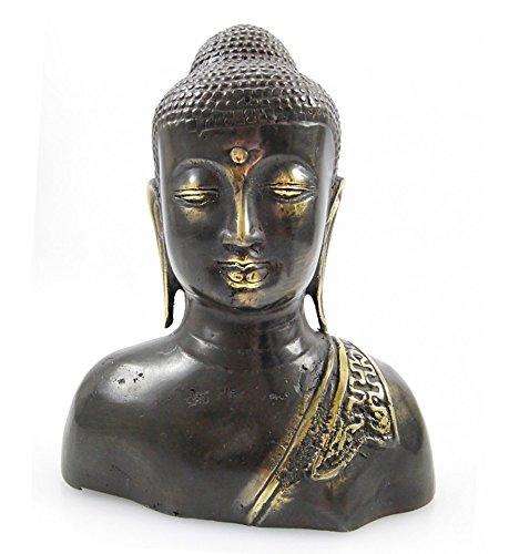 Busto di buddha in bronzo h18cm. decorazione asiatica.
