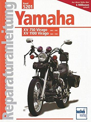 Yamaha XV 750 Virago 92-97 / XV 1100 Virago 89-99: Luftgek,Viertaktm.obenl.Nockenwell  748 / 1063 cm3, V-Zweizyl. Winkel 75 Grad (Reparaturanleitungen) (Virago Starter)