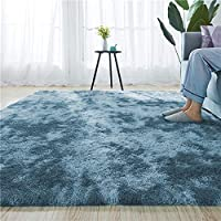 Blivener Luxury Shaggy Soft Area Rug Tie-Dyed Faux Fur Indoor Fluffy Non-Slip Rugs Modern Home Decor For Bedroom…