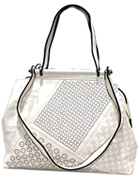 8c47c926ce LOOKAT Borsa donna in similpelle shopping a mano doppia tracolla B1211  bianco
