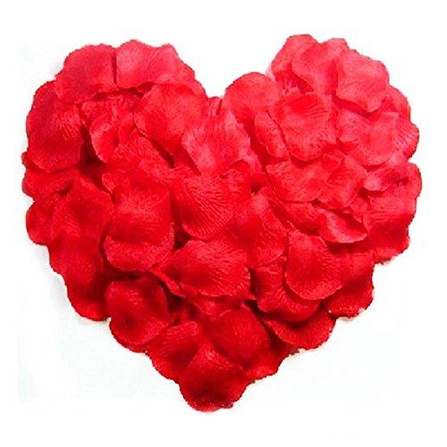 WINOMO 1000pcs künstliche Seide rote Rose Petals Dekorationen für die Hochzeitsfeier