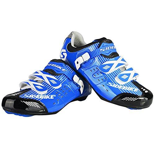 Uomo bicicletta ciclismo scarpe traspiranti e antiscivolo Blau