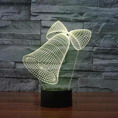 3D Illusion Nachtlampe Led Bell Licht Für Kinder Kinder Dekoration Geburtstag Geschenk -