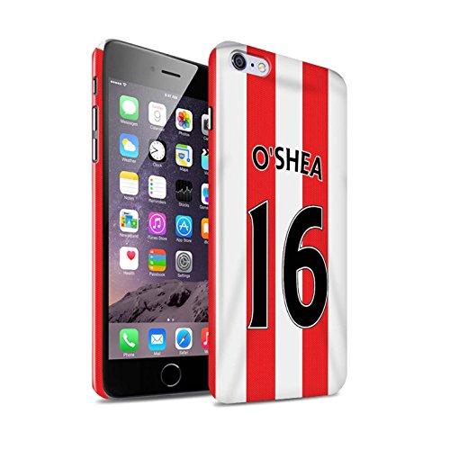 Offiziell Sunderland AFC Hülle / Glanz Snap-On Case für Apple iPhone 6+/Plus 5.5 / Pack 24pcs Muster / SAFC Trikot Home 15/16 Kollektion O'Shea