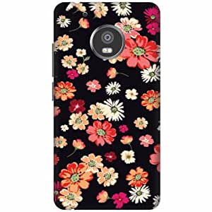 Moto G5 Plus Hard Plastic Back Cover - Multicolor Designer Cases Cover By Printland