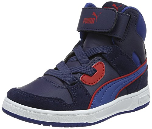 Puma Unisex-Kinder Rebound Street Sd V Ps Low-Top Blau (peacoat-true blue 13)
