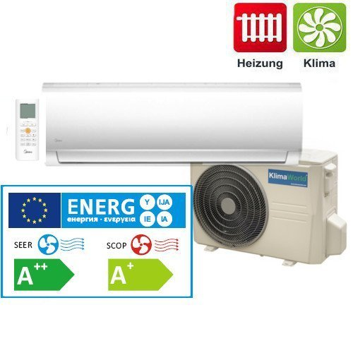 Air Conditioner Wall Unit Inverter Klimaworld Eco+ 27, 2,64 Kw