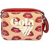 Gola Midi Redford Glossy Lips CUB180 Bolso Bandolera Red/White