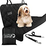 Dog Car Seat Cover Waterproof - Heavy Duty Dog Hammock with Seat Belt and Bag, With Side Flaps, Scratch Proof Nonslip Padded Pet Seat Cover for Cars Trucks and SUVs.