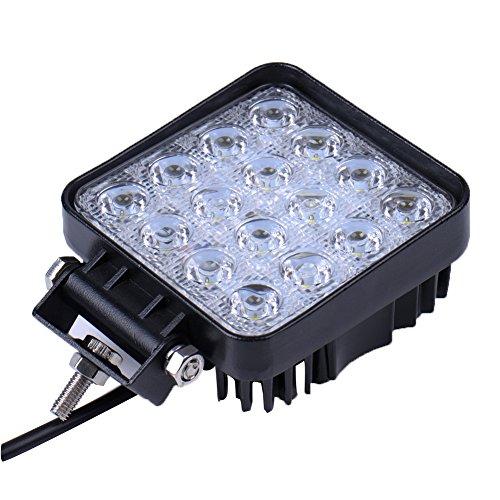 Foto de 10x 48W cuadrado 4800LM La luz del trabajo de LED Bar inundacion del punto de la viga campo a traves del carro ATV SUV Jeep,autobús vehículo, IP67