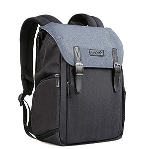 Inateck-zweischichtiger-Kamera-Rucksack-mit-Laptop-Fach-Reiserucksack-15-MacBook-Pro14-Laptop-Zubehrfcher-Regenschutz-Fach-fr-DSLR-Kamera-Objektive-grenverstellbar-CB2001
