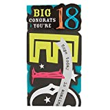 "Hallmark 18. Geburtstag Karte""Big Congrats – Medium Slim"