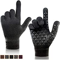 arteesol Winter Gloves, Touch Screen Gloves Knitted Warm Gloves for Outdoor Cycling Climbing Sports for Men and Women