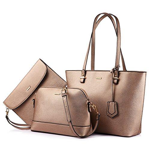 Borsa Donna Tracolla Borsa Spalla Borse a Mano Moda Elegante Borsa Shopping Bag Nero Marrone scuro