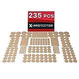 Möbelpolster Bodenschutz X-Protector – Beste Filzpads 235 – Premium Möbel Filz Pads für Möbelfüße. Riesige Menge Klebepads – Stuhlbeinschoner Schützen Sie Ihre Holzböden.
