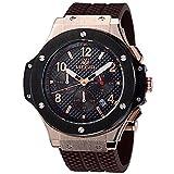 Comprar Megir reloj de pulsera para hombre, Oro Rosa, Correa de silicona de cuarzo militar, reloj cronógrafo luminoso