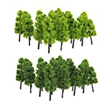 Model Train Railroad Scenery Trees 1:200 Pack of 20pcs Dark Green Light Green