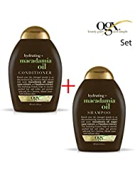 ogx (anciennement Organix) Hydratant Macadamia Oil Shampoing 385ml + après-shampoing/chasse 385ml–pour Persistance...