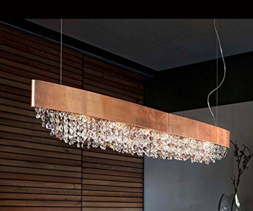Masiero Kronleuchter Olà Kupfer Handarbeit,Made in Italy,Dimmbar,Italienisches Glas