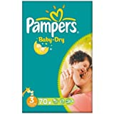 Pampers Baby Dry taille 3 (4-9 kg) Gros Paquet Midi 70 par paquet