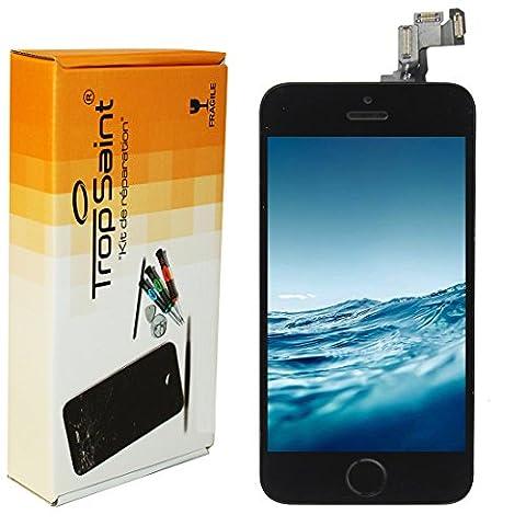 Kit Réparation écran pour iPhone 5S LCD Noir - Trop Saint ® Ecran Complet